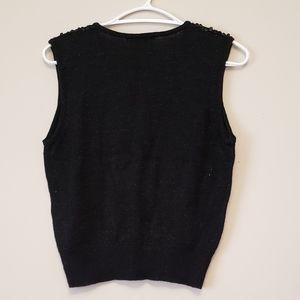 SPANNER Tops - Sequined Black Vest